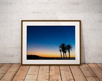 Rabat sunset, Morocco - Physical fine art photography print