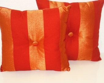 Ground orange vertical stripes
