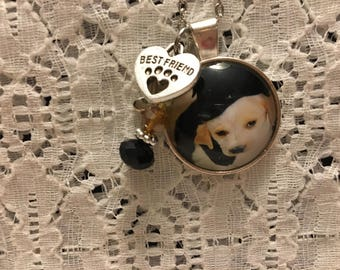 Puppy Pals Charm Pendant Necklace/Lab Puppies Necklace/Puppies Necklace/Lab Puppy Necklace/Lab Puppy Pendant/Puppies Necklace/Puppy Jewelry