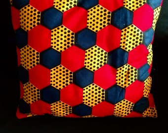 Cushion red & yellow wax