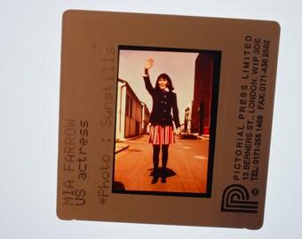 RARE Mia Farrow 35MM Vintage Press Photo SLIDE TRANSPARENCY.