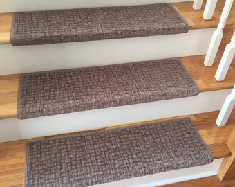 Alfa Dusk 100 Wool True Bullnose Carpet Stair Tread Jmish