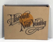 Neil Young Harvest Album Cover Notebook Handmade Spiral Journal