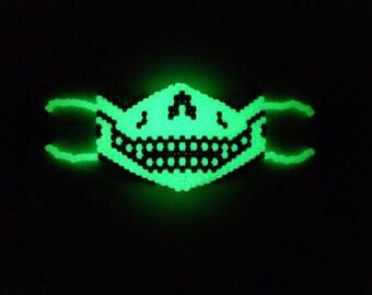 Glow-In-The-Dark Skeleton Kandi Mask