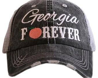 Georgia Forever trucker hat~Georgia state hat~georgia Peach