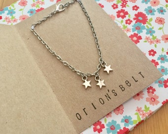 Star Charm Bracelet, Orion's Belt