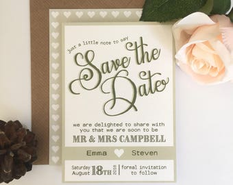 Wedding Save the Date - SAMPLE | Rustic | Emma Range