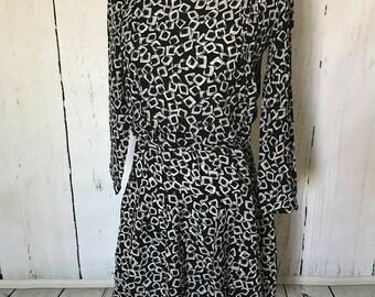 Fun, flowy 1980s summer dress by Secrets