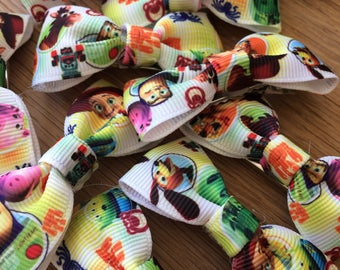 Toy Story printed ribbon hair bow clips