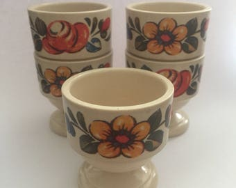 Set of 5 EMSA Melamine Egg Cups - Vintage 1970s