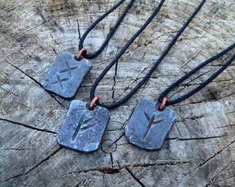 Hand Forged Rune Necklace
