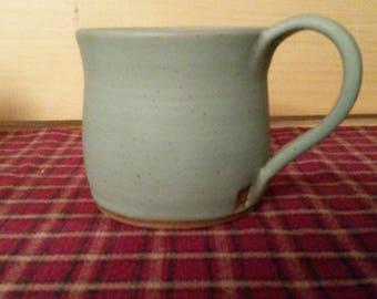 Icy turquoise coffee mug, pottery coffee mug,  pottery coffee cup, coffee cup, ceramic mug, ceramic coffee cup, pottery mug