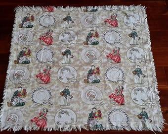 Vintage Royal Doulton Barkcloth tablecover