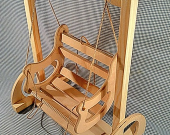 Wooden swing for dolls, doll furniture, handmade, American Girl, doll house furniture, Barbie swing