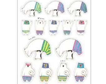 Luchador Polar Bear Sticker Sheet