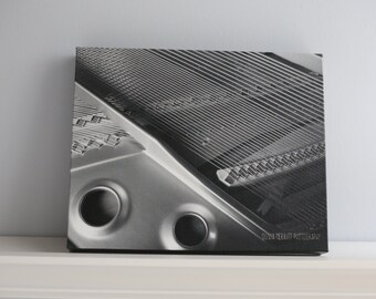"Black and White Piano Photo Canvas 8x10"" Wall Art"