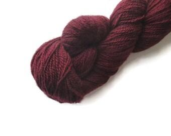 Burgundy Cashmere Yarn, 2 ply Lace Weight, 440 Yards, Knitting Crochet, Dark Red Crimson, Jojoland Cashmere