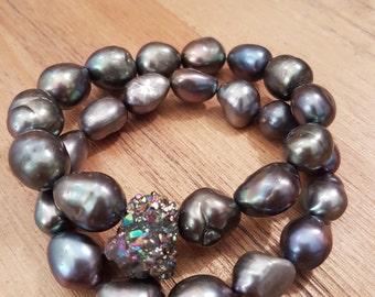 Bracelet woman, Elegant-02, freshwater pearl.