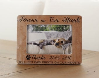 Pet Loss, Pet Memorial, Forever in Our Hearts, Memorial Frame, Pet Memorial Frame, Cat Loss, Cat Memorial, Pet Sympathy Gift, Dog Loss Frame