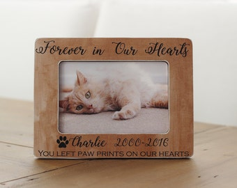Cat Loss, Pet Memorial, Forever in Our Hearts, Memorial Frame, Pet Memorial Frame, Cat Loss, Cat Memorial, Pet Sympathy Gift, Dog Loss Frame