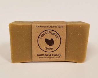 Organic Oatmeal & Honey Soap - Scented (Handmade)