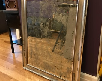 "NEW Antiqued Mirror 34.25"" x 28"""