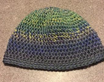 Small adult crochet beanie