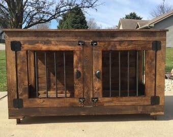 Rustic dog kennel
