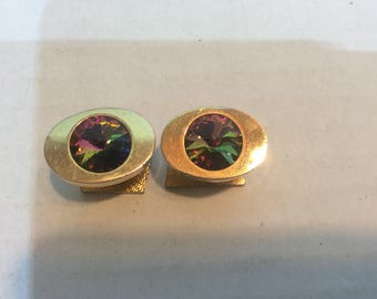 Beautiful Multicolored/Faceted Mens Cuff Links