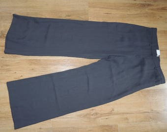 FREE SHIPPING - Vintage Emporio ARMANI Gray light trousers with zipper and pockets, size 38, Made in Italy