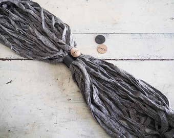 Cotì, man, scarf with magnet, scarf necklace, worn in four different ways, Italian cotton, made in italy, handmade