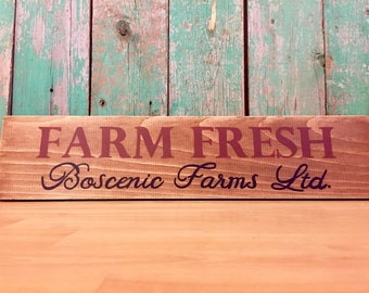 Farm Fresh - Farm Fresh Sign - Farmhouse Sign - Farmhouse Wall Decor - Farmhouse Rustic Decor - Farm Fresh Eggs - Farmhouse Home Decor