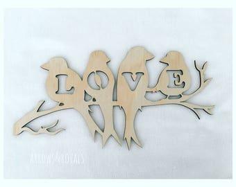 Love Bird wall plaque