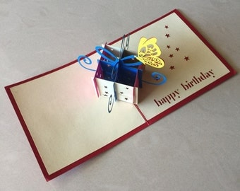 1# Present Pop Up Card, Pop-Up Card, 3D Card, Birthday Pop Up Card, Birthday Card