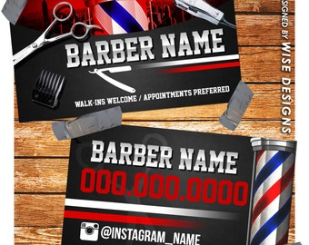 Barber business card | Etsy