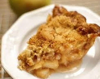 Apple & Walnut Crumble Pie, American Pies, Artisanal Fresh Baked goods, 9 inch pie, Food Gift, Vegetarian Pie, Cinnamon Apple, Fresh Baked