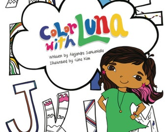 Color With Luna Coloring Book Deluxe Pack