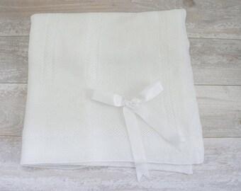 Newborn Knitted Blanket Non Allergic Soft Knitted Blanket