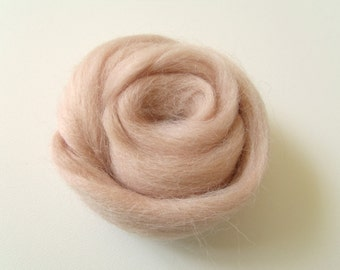 25g worsted Merino carded spinning and/or felting Nude color