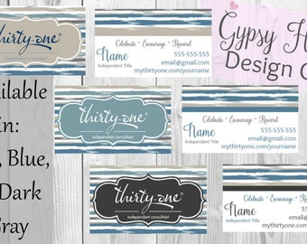 Thirty-One Business Cards- Brush Strokes