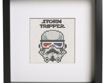 Storm Tripper (storm trooper) Star Wars Parody Cross Stitch Pattern
