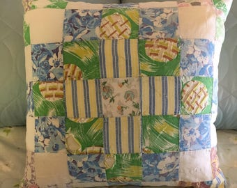 Upcycled Patchwork Quilt Pillow