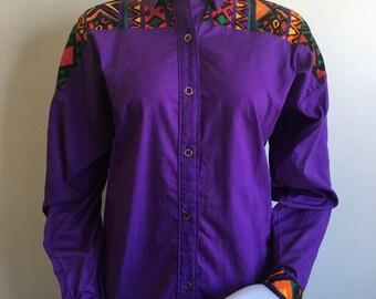 Aztec  Purple Oxford button down