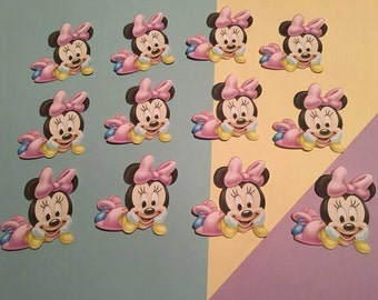 6 Baby Minnie Mouse Die Cuts