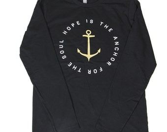 Hope Is The Anchor For The Soul long sleeve by Hope Dealer  / Navy and black