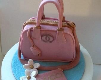 Novelty,Gucci designer, handbag and purse, sugarpaste,cake topper,cake decoration,edible