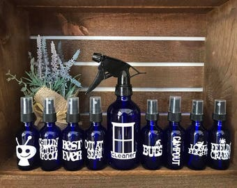 Essential Oil Spray Bottle Decals