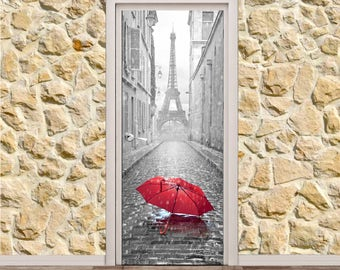 "Eifel Tower Door Poster/Sticker (30"" x 79"" 