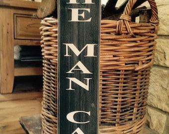 Man Cave Sign wood vintage old style gift Dad garage den home