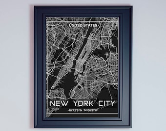 New York City Wall Art new york city map new york city wall art print new york